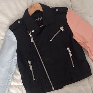 Nasty Gal Pastel Faux-Leather Moto Jacket